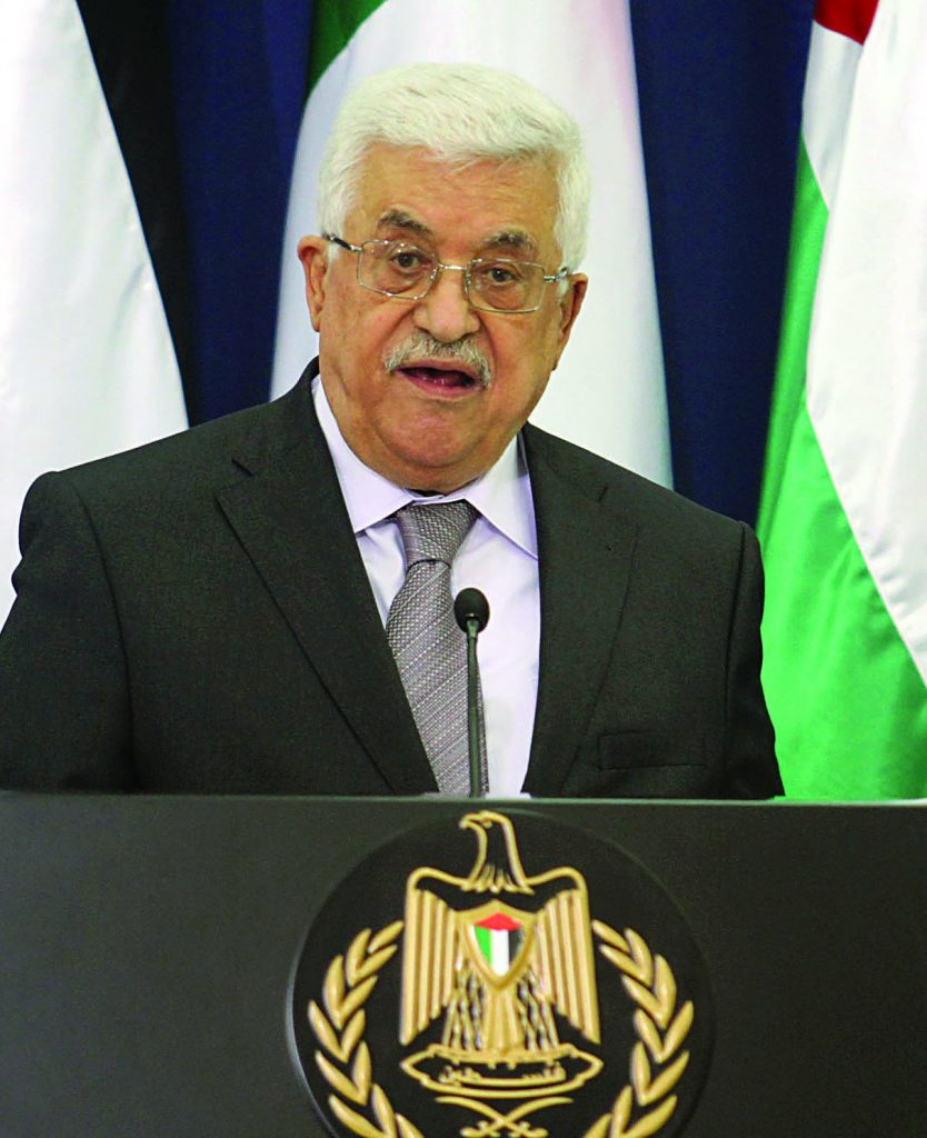 Palestinian Authority President Mahmoud Abbas said he doesn't want a single Israeli in his future state.(Issam Rimawi / Flash90)