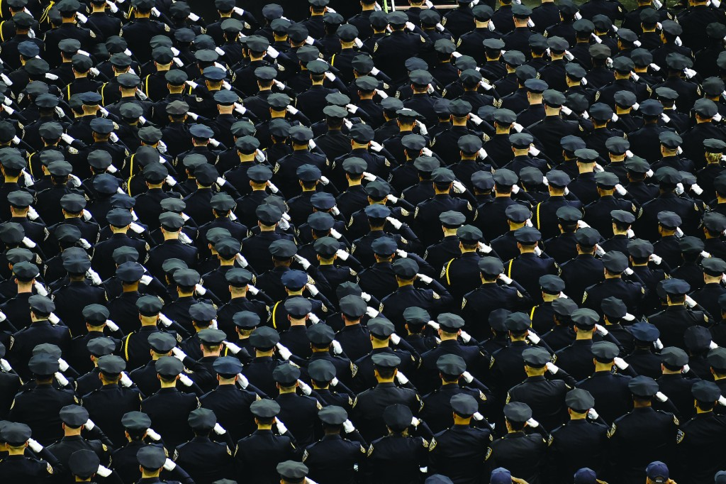 About 1,000 new officers graduated on Monday from the NYPD Police Academy in Madison Square Garden. (Diana Robinson/Mayoral Photography Office)