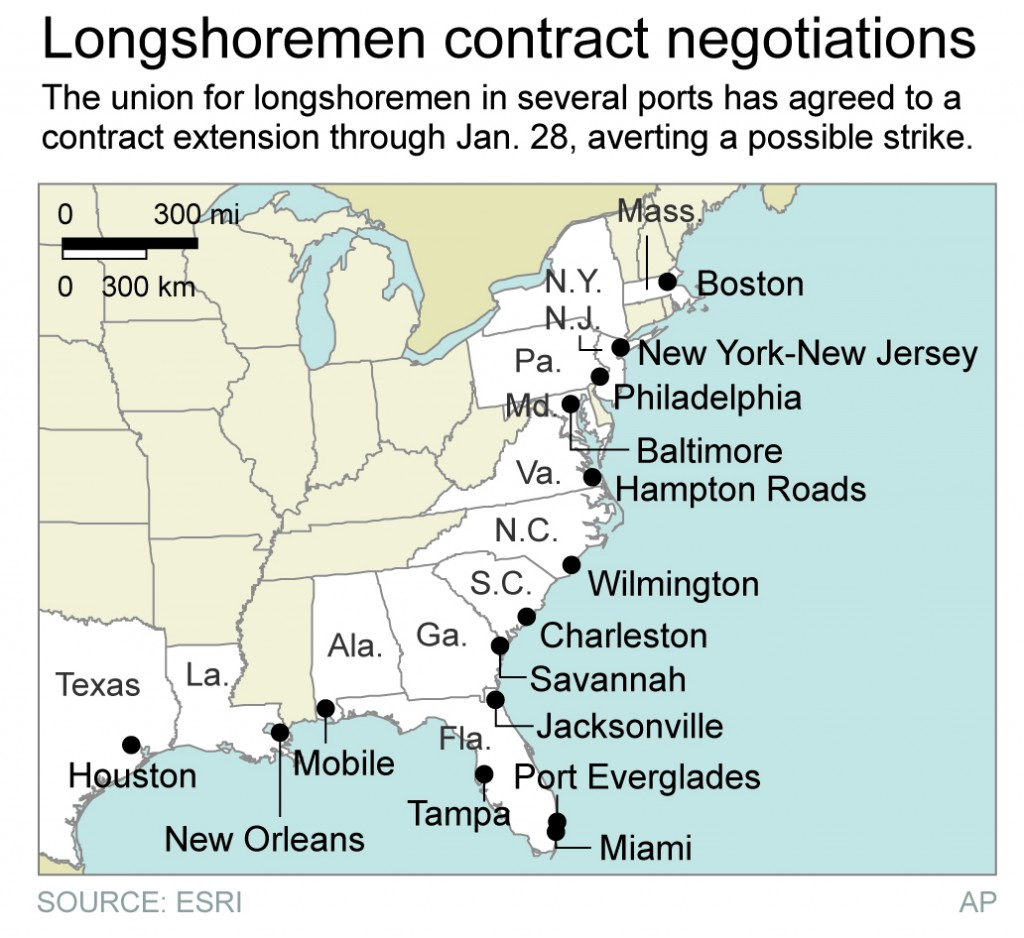 Dockworkers Strike Averted For Now at U.S. Ports | Jewish News ...