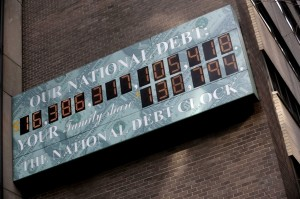 The national debt clock. (Getty images)