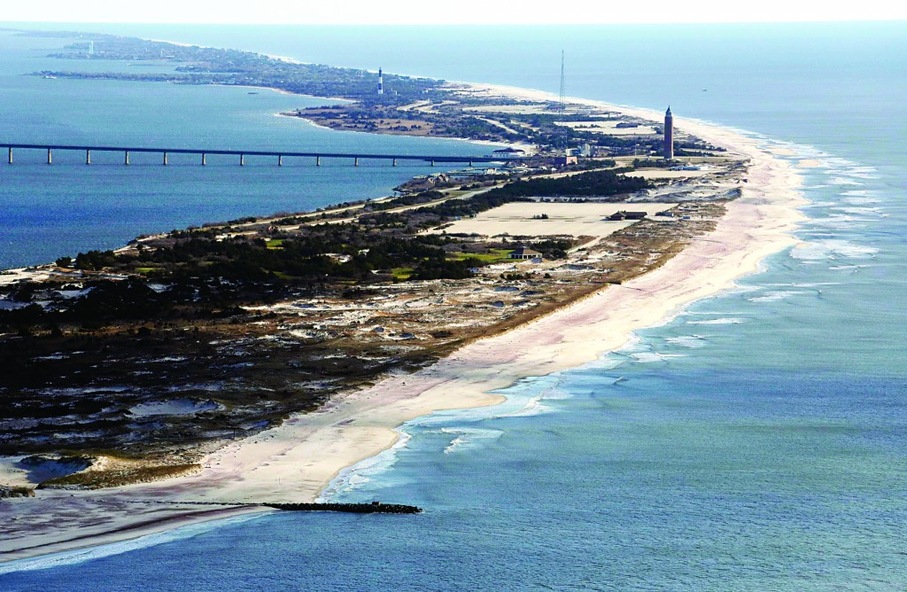 This Jan. 18 aerial file photo shows what was once Robert Moses State Park on Fire Island, N.Y. (AP Photo/Mark)