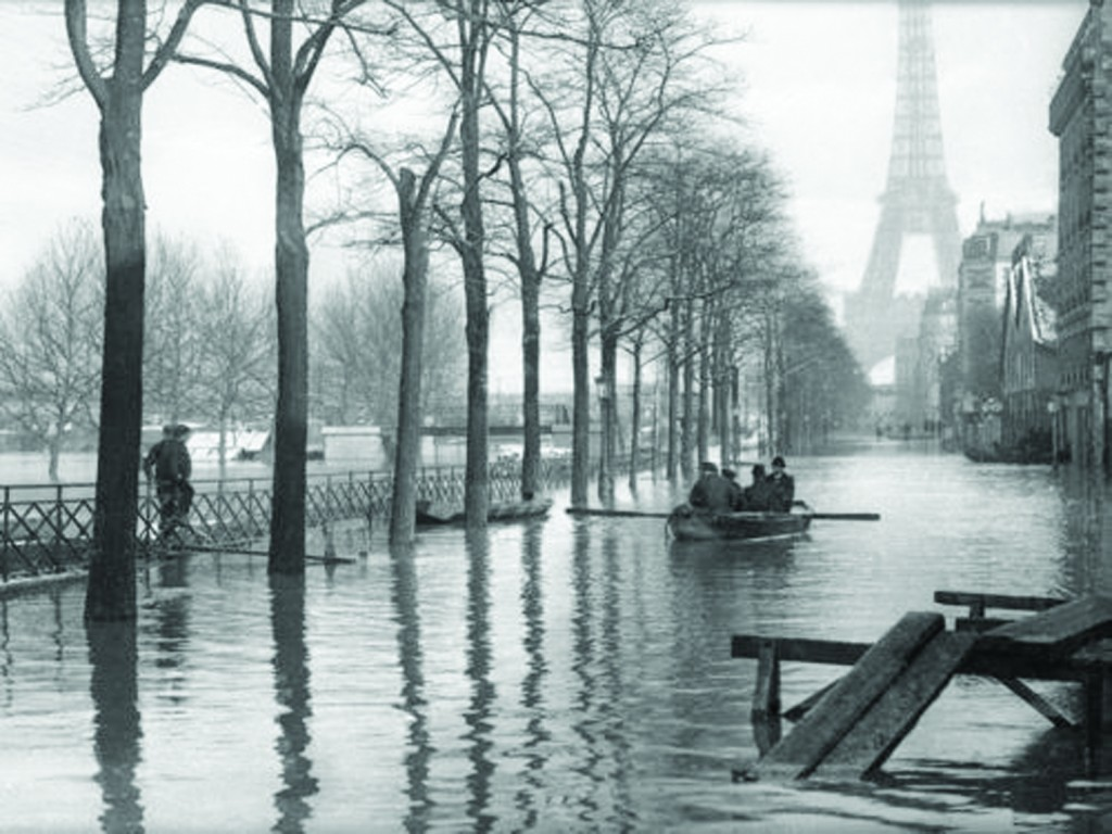 The 1910 Great Flood of Paris was a catastrophe in January 1910 in which the Seine River, carrying winter rains from its tributaries, flooded Paris and several nearby communities.