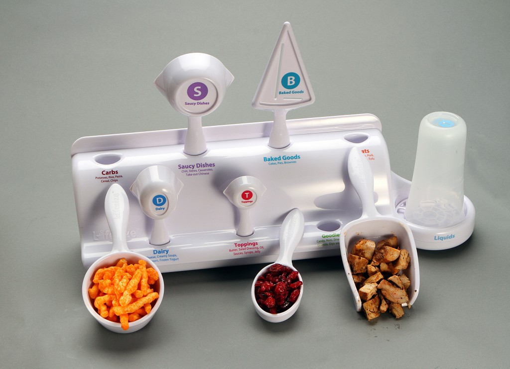 The Lifesize weight-control system makes it easy to measure portions to give folks on a diet a little help in making things simpler. (Kirk McKoy/Los Angeles Times/MCT)