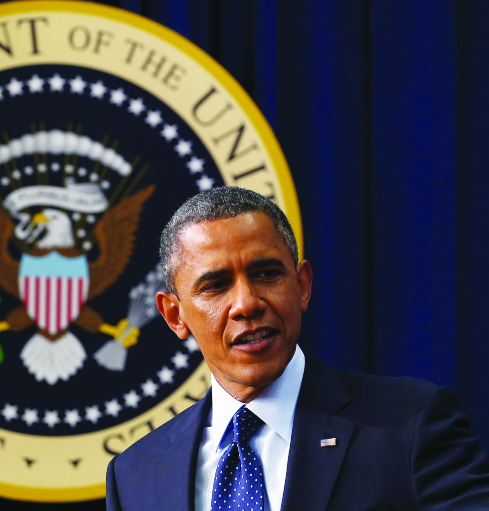 President Barack Obama delivers remarks about the fiscal cliff negotiations in the Eisenhower Executive Office Building next to the White House December 31, in Washington, D.C. (Chip Somodevilla/Getty Images)