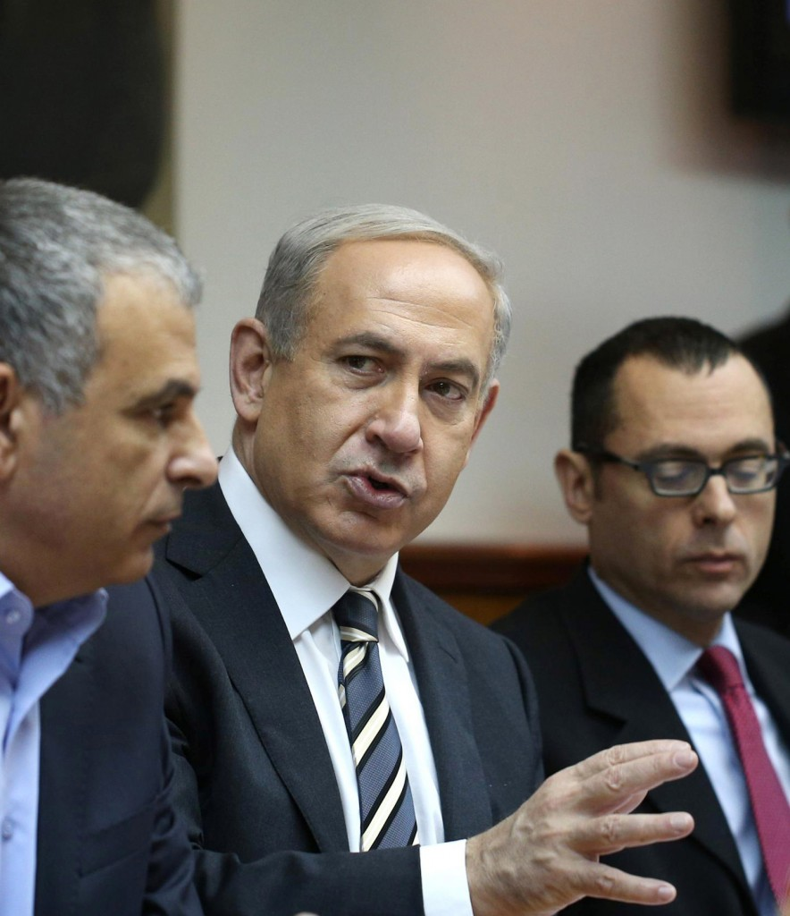 Prime Minister Binyamin Netanyahu speaking at the Cabinet meeting in his office in Yerushalayim this week. On Tuesday, he responded to urgings to move ahead on talks with the Palestinians, characterizing their regime as unstable. (FLASH90)