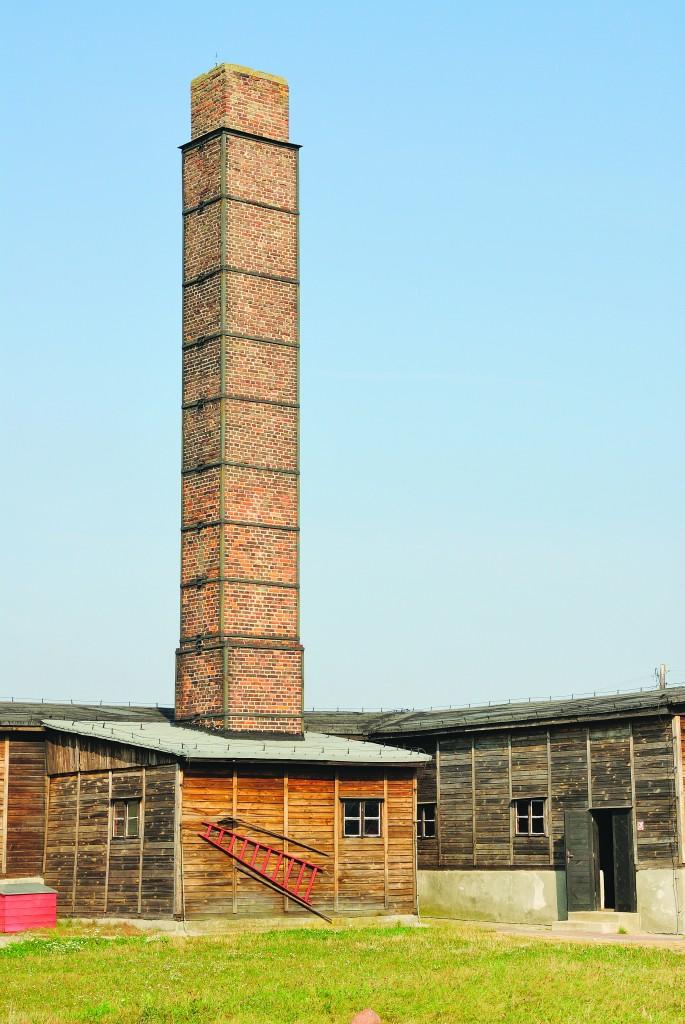 Building housing crematoria in Majdanek, the Nazi death camp in Lublin. (shutterstock)