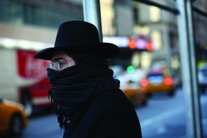 A pedestrian bundled up against the cold walks in Manhattan in New York City on Thursday. (John Moore/Getty Images)