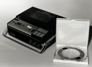 The original Nixon White House tape and original tape recorder are shown in an undated handout photo. In 1998, decades after the fighting over his tapes The National Archives, under a court order it had fought for years, began cutting up the original tapes from the Watergate years and returned portions dealing with private matters to the late president's estate. (AP Photo/National Archives)