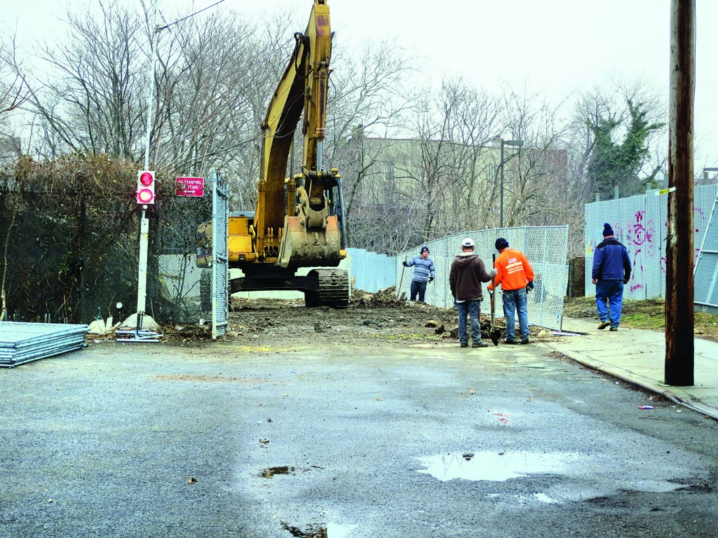 Work at the rear of the ShopRite property near 19th Avenue and 50th Street in Boro Park has led to concerns from nearby residents.