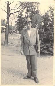 Rabbi Yosef Friedenson in Israel in 1949 on Agudah shlichus.