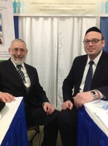 L-R: Mr. Gedalya Weinberger and Duvi Honig, Parnassah Expo founder and director. (Lakewood Scoop)