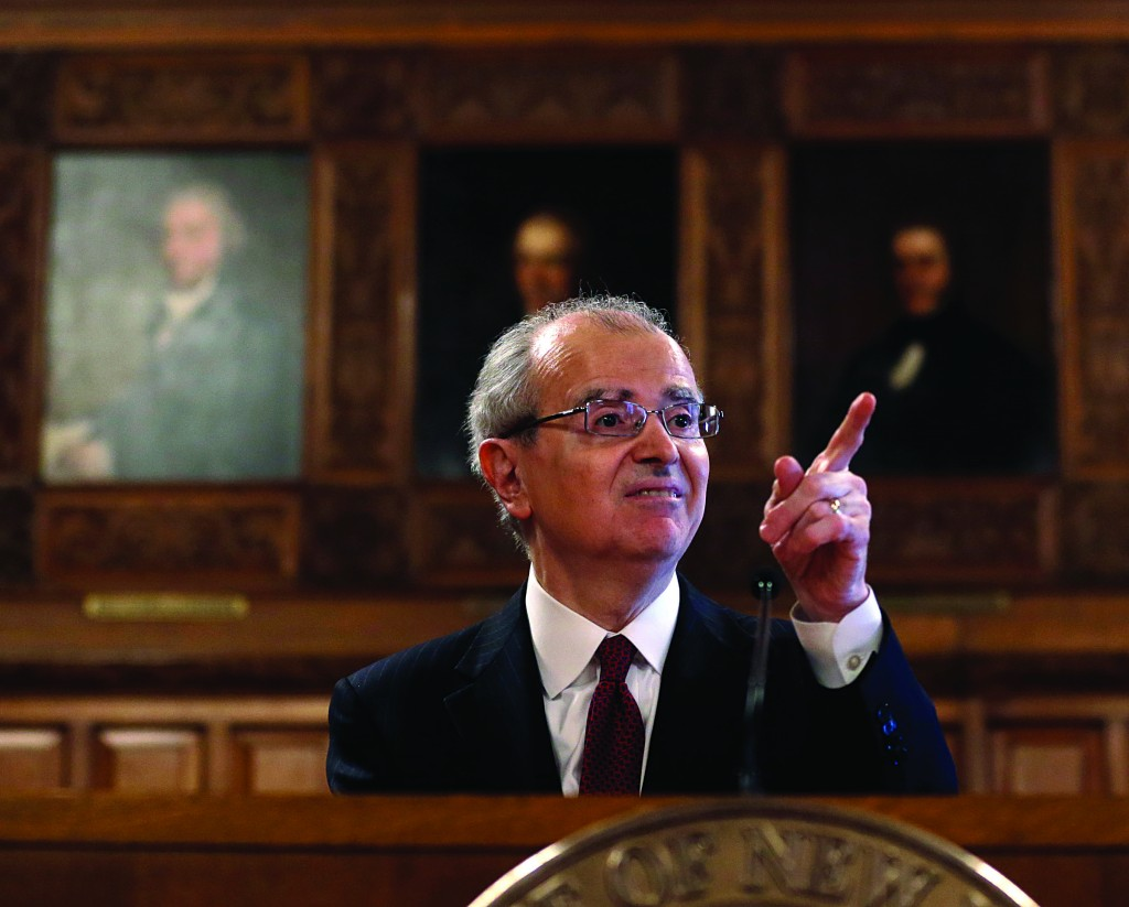 New York Chief Judge Jonathan Lippman delivers State of the Judiciary address in Albany, N.Y. (AP Photo/Mike Groll)