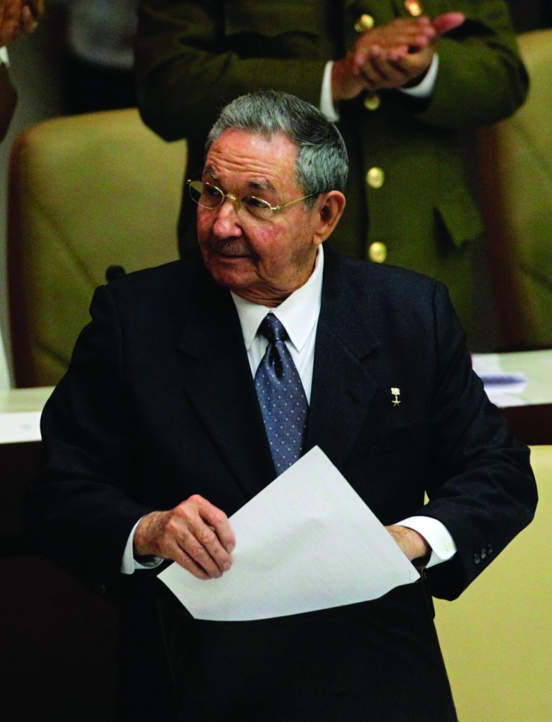 Cuba's President Raul Castro prepares to leave after the closing session of the National Assembly of the Peoples Power in Havana Sunday. (REUTERS/Desmond Boylan)