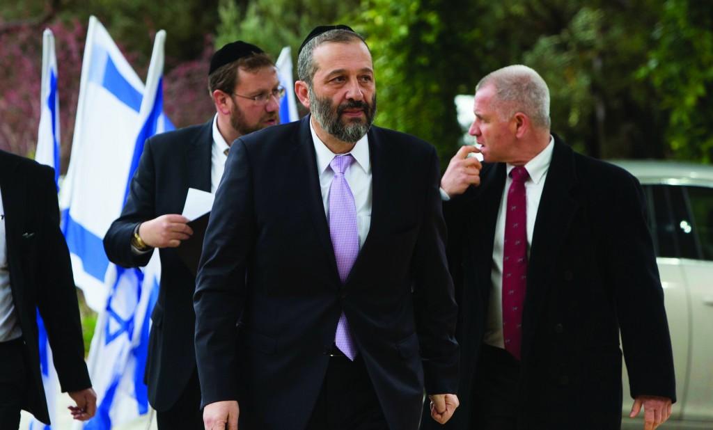 "Shas leader Aryeh Deri accused Yair Lapid of ""pure hatred for chareidim."" (Flash90)"