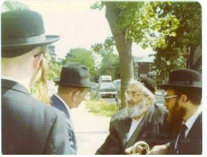 R-L:  Harav Yitzchok Hutner and Rabbi Yosef Friedenson.