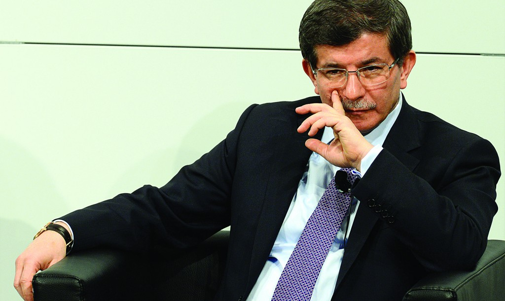 Turkey's Foreign Minister Ahmet Davutoglu at the 49th Munich Security Conference on Sunday, where world leaders, ministers and top military officials gathered for talks. Davutoglu took a swipe at Syria at the conference. (Getty Images)