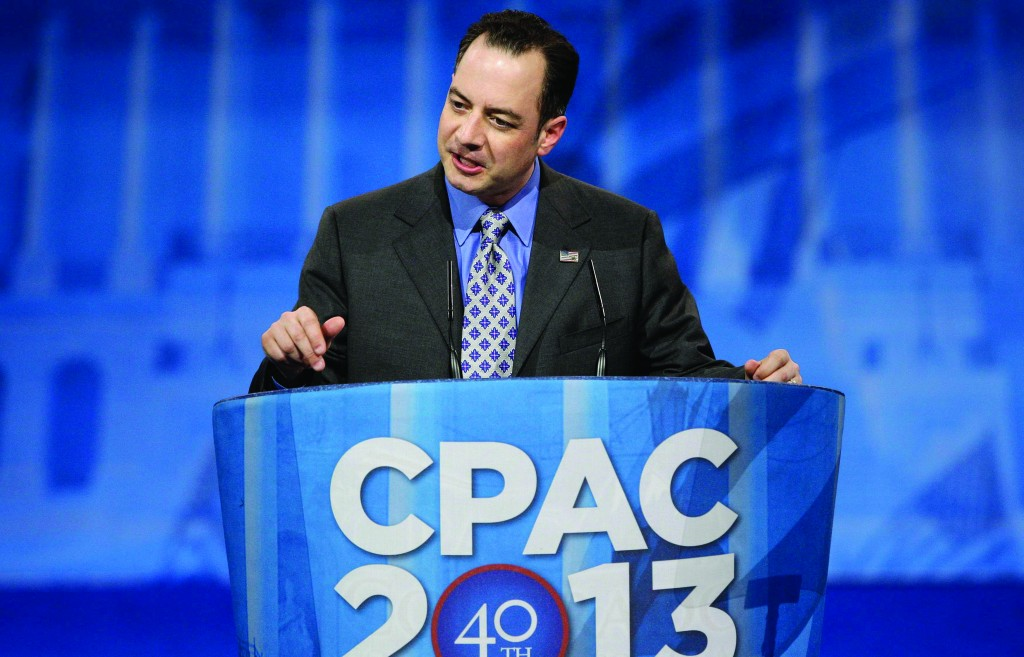 Republican National Committee Chairman Reince Priebus delivers remarks to the Conservative Political Action Conference (CPAC) in National Harbor, Maryland, Friday. (REUTERS/Jonathan Ernst)