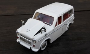 A model in die-cast metal of one of the few cars Israel has ever manufactured – the Susita.