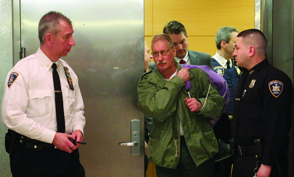 David Ranta leaves Brooklyn Supreme Court Thursday after more than two decades behind bars. (AP Photo/Mary Altaffer)