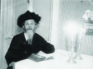 "Harav Avraham Yeshoshua Heschel, the Kopycznitzer Rebbe, zy""a, on his last Motzoei Shabbos in Vienna before fleeing the city."