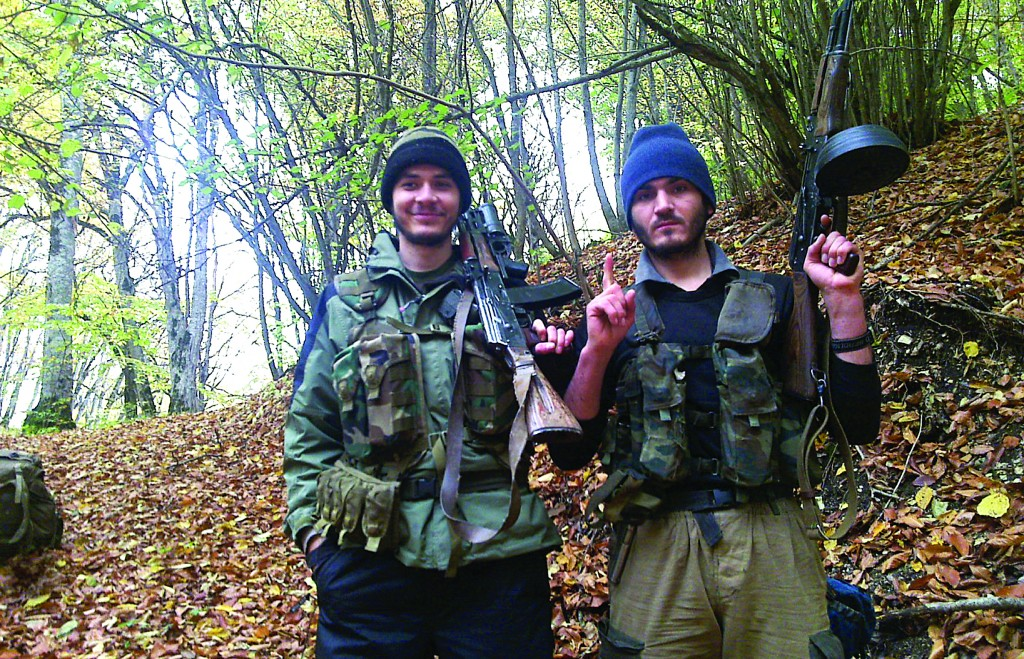 In this undated photo provided by the Dagestani branch of the Federal Security Service, the Canadian, William Plotnikov (L) poses for the camera. (AP Photo/Dagestani branch of the Federal Security Service via NewsTeam)