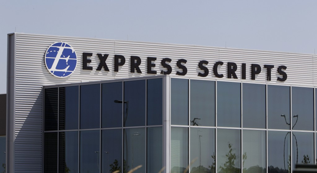 A building on the Express Scripts campus in Berkeley, Mo. (AP Photo/Jeff Roberson, File)