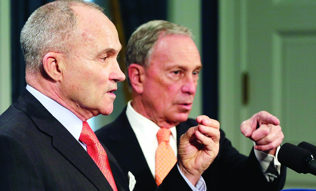 Police Commissioner Raymond Kelly, left, and Mayor Michael Bloomberg at a news conference Thursday. (AP Photo/Mark Lennihan)