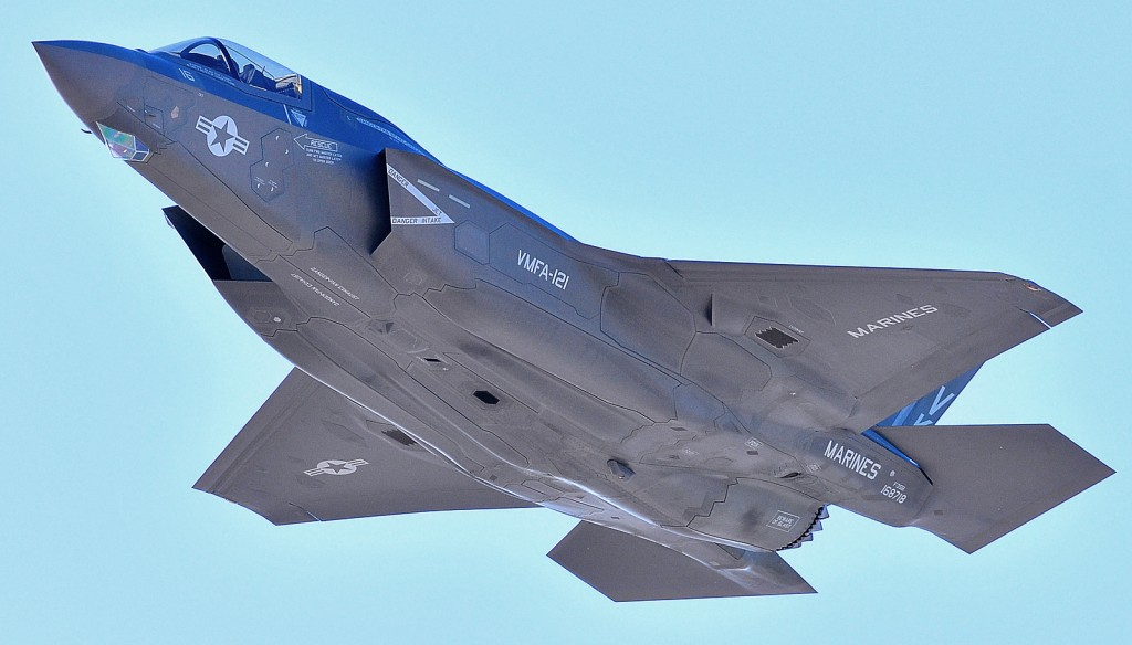 An F-35 B Lightning II in flight. Israel Aerospace Industries will make wings for the next-generation of the F-35. (AP Photo)