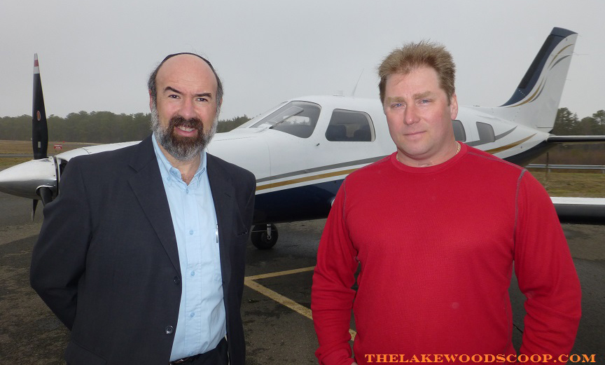 Steven Reinman, Lakewood's deputy municipal manager (L), with Lakewood Airport's manager, Mathew Applegate, on Thursday at the airport. (TheLakewoodScoop.com)