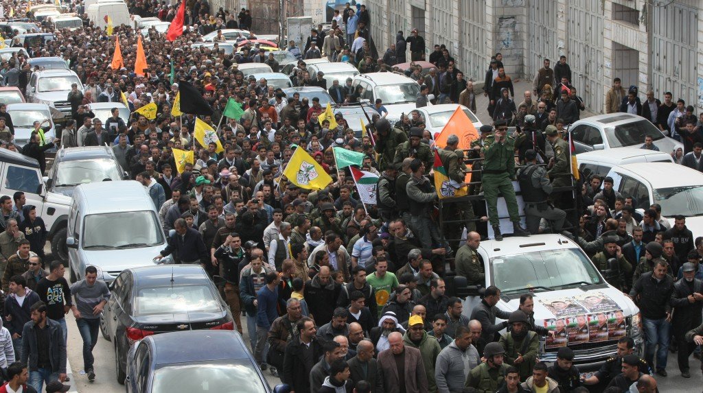 A view of the funeral in Chevron on Thursday. (Getty Images)