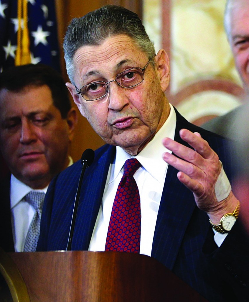 Assembly Speaker Sheldon Silver speaks during a news conference at the Capitol on Monday. (AP Photo/Mike Groll)
