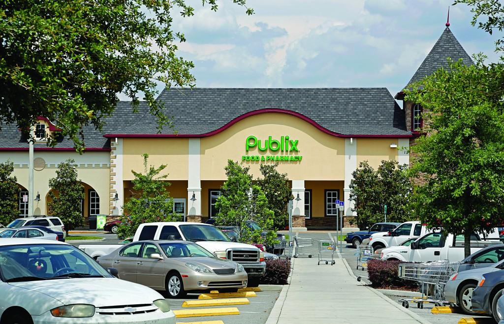 The front of the Publix supermarket in Zephyrhills, Fla., on Sunday. (AP Photo/Scott Iskowitz)