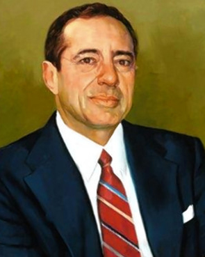 The portrait of former governor Mario Cuomo, which will hang in Albany. (Simmie Knox/New York Governor's Office)