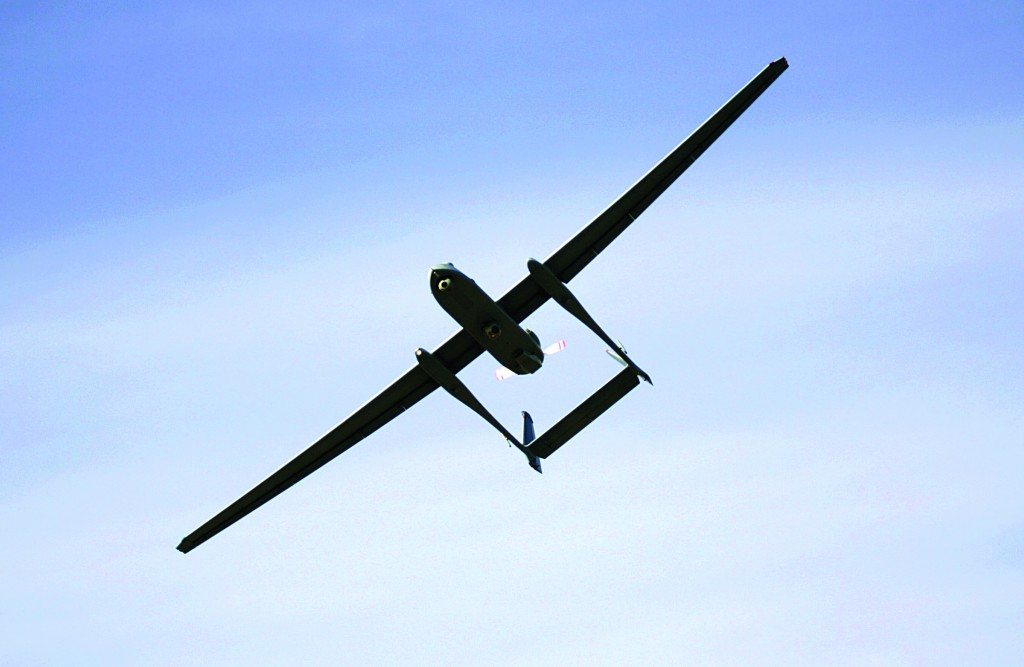 The Israeli army's Heron, an unmanned drone aircraft for surveillance missions. (AP Photo)