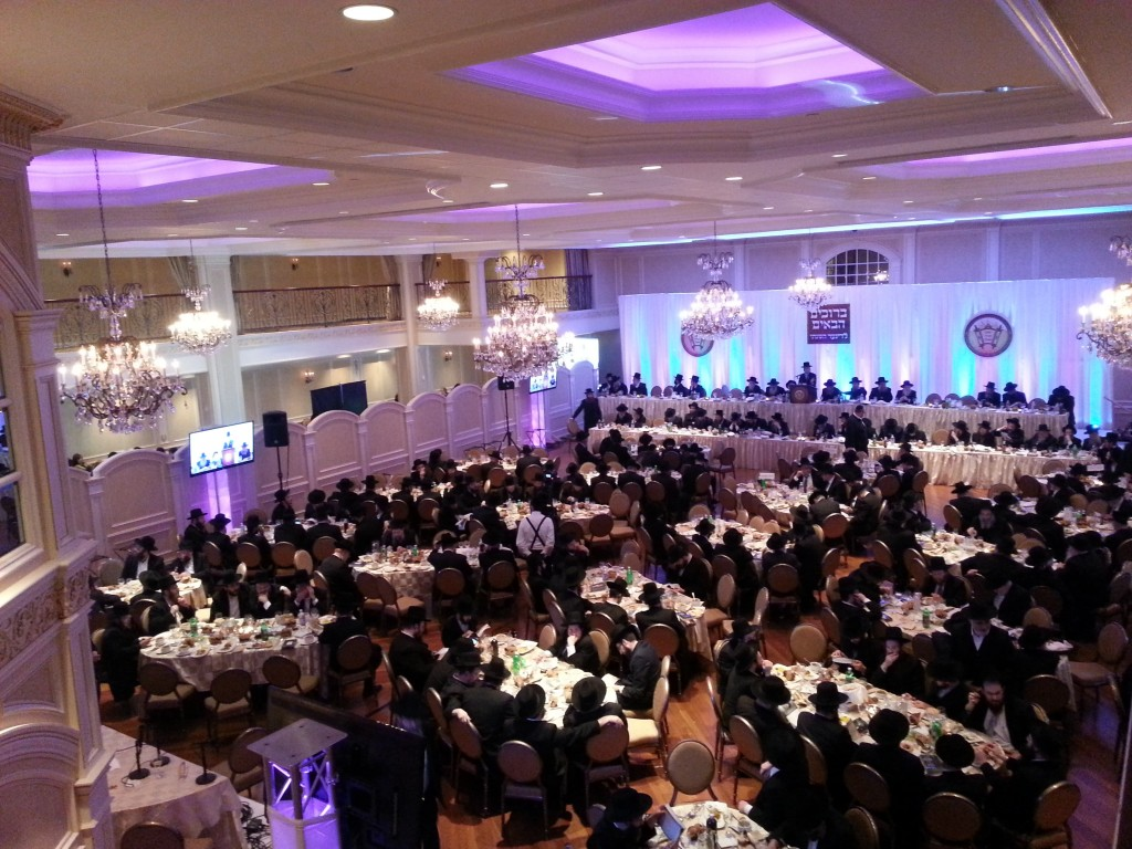 Hundreds of supporters attended Yeshivah Karlin Stolin's dinner Sunday night, at the Tiferes Rivka Hall in Boro Park. (News Breakers)