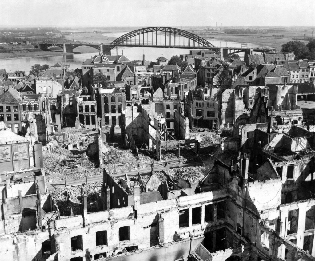 Nijmegen in ruins after heavy fighting during WWII on Sept. 28, 1944. (U.S. Army archives)