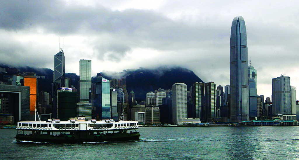 A ferry sails across Victoria Harbor in Hong Kong on Tuesday. Edward Snowden, an American defense contractor who said he leaked information on classified U.S. surveillance programs, could benefit from a quirk in Hong Kong law that would ensure a lengthy battle to deport him. (AP Photo/Kin Cheung)