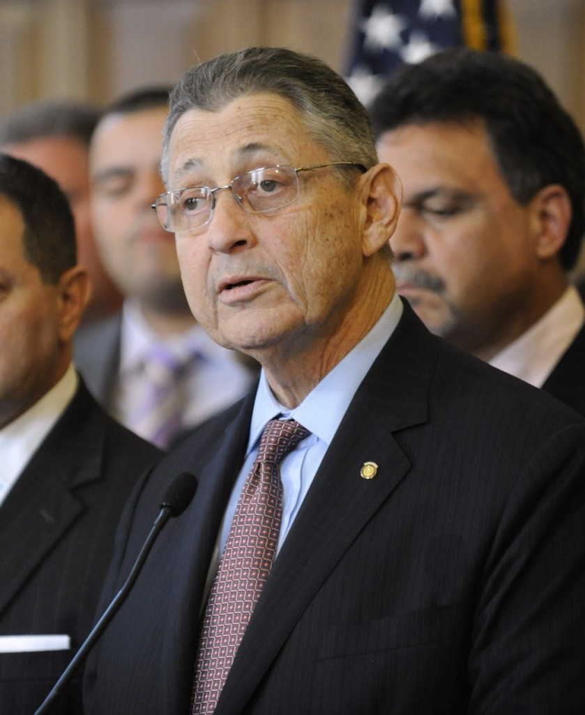 Assembly Speaker Sheldon Silver speaks during a news conference at the Capitol Monday. (AP Photo/Tim Roske)
