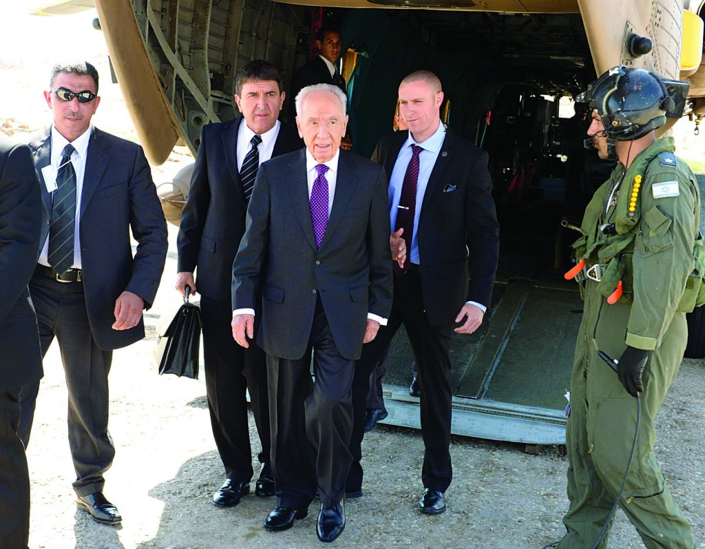 Israeli President Shimon Peres meets the press at the World Economic Forum in Southern Shuneh, 34 miles southeast of Amman, Jordan, on Sunday. (AP Photo/Mohammad Hannon)