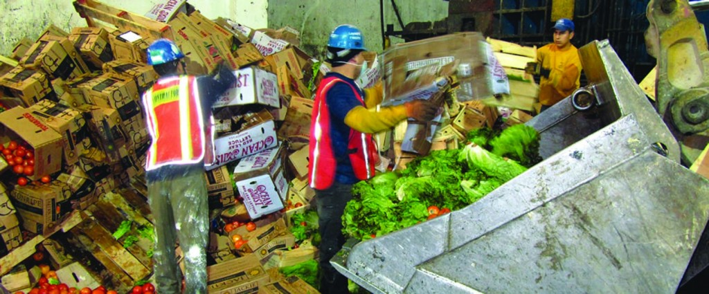 Sorters at a transfer station operated by Royal Waste in New York City remove contaminants from commercial food waste in this file photo.