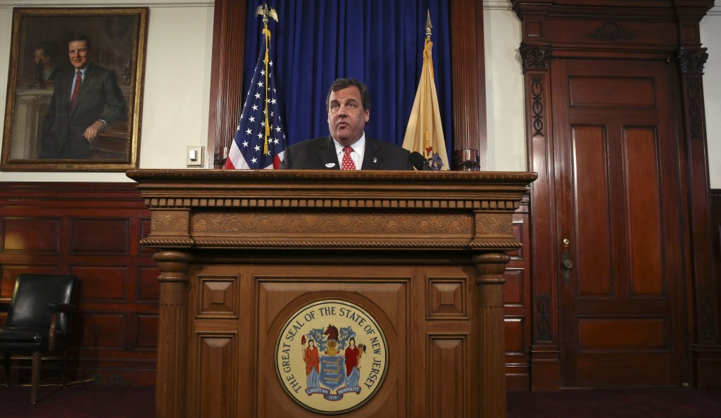 New Jersey Gov. Chris Christie on Tuesday outlines plans for a special election to fill the vacant Senate seat of Frank Lautenberg, who died Monday. (Jeff Zelevansky/Getty Images)