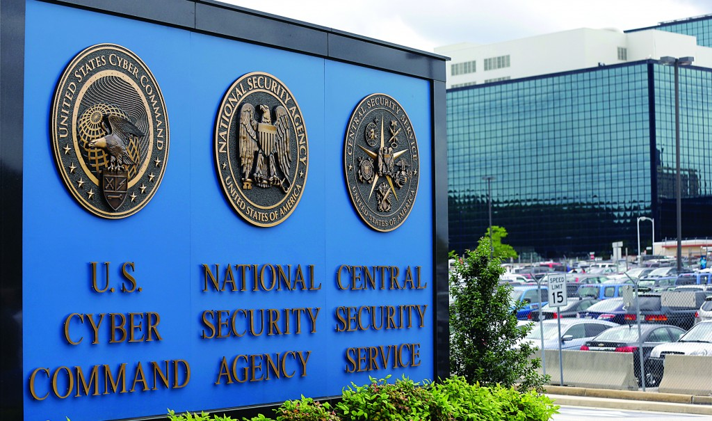 "The sign outside the National Security Administration campus in Fort Meade, Md., Thursday. The Obama administration on Thursday defended the NSA's need to collect telephone records of U.S. citizens, calling such information ""a critical tool in protecting the nation from terrorist threats."" (AP Photo/Patrick Semansky)"