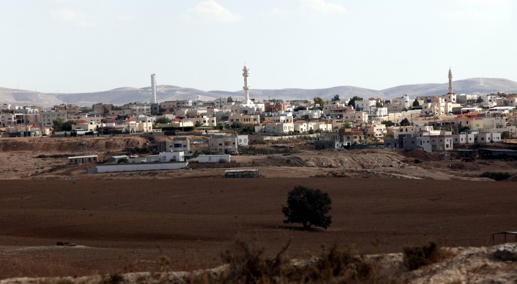 The Bedouin city of Rahat in southern Israel, where traces of polio virus have been found. (Yossi Zamir/Flash 90)