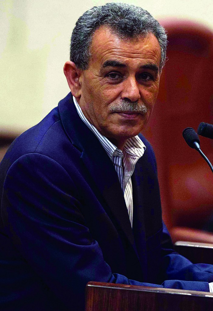 Balad MK Jamal Zahalka wants autonomy for Israel's Arabs.(Uri Lenz/FLASH90)