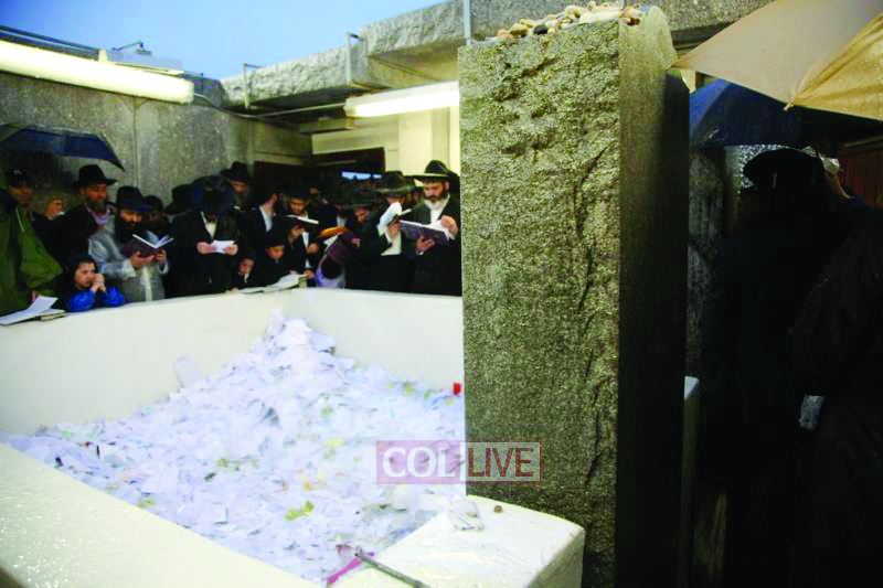 """Thousands of people filed through the Ohel in Queens to mark the 19th yahrtzeit of Harav Menachem Mendel Schneerson, zt""""l, the Lubavitcher Rebbe.(Collive.com)"""