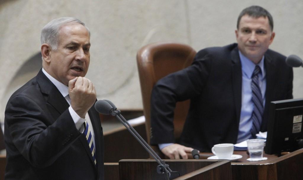 Israeli Prime Minister Binyamin Netanyahu addresses the Knesset on Wednesday. (Miriam Alster/FLASH90)