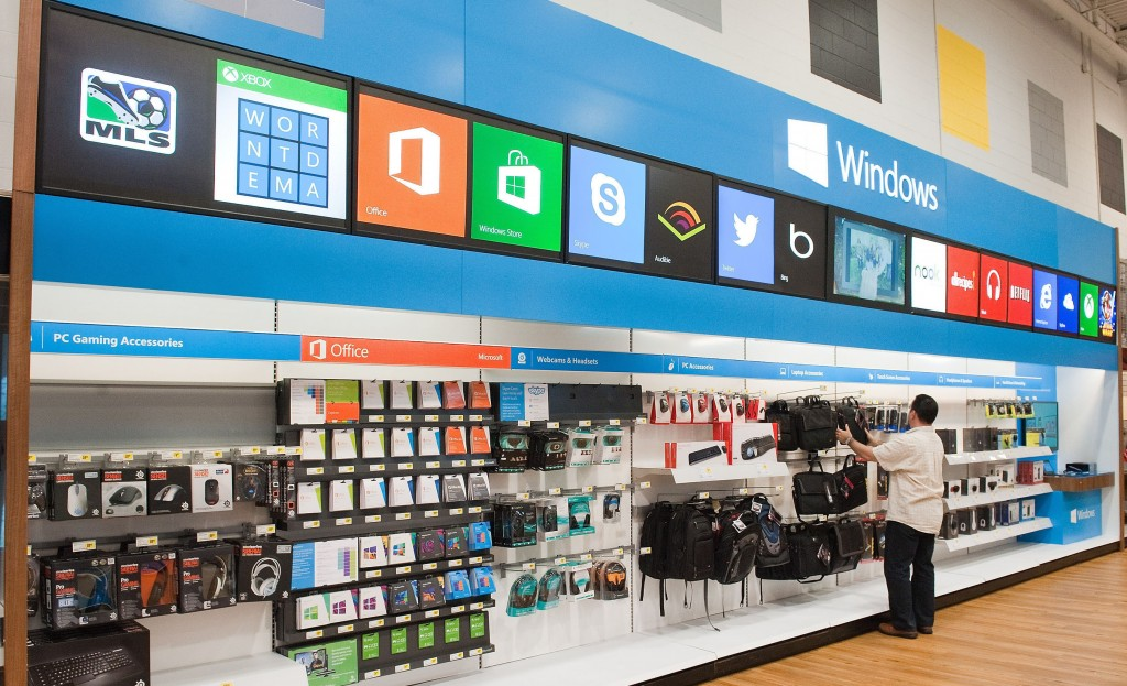 The Windows Store only at Best Buy features a wide array of software and accessories. (PRNewsFoto/Microsoft Corp)