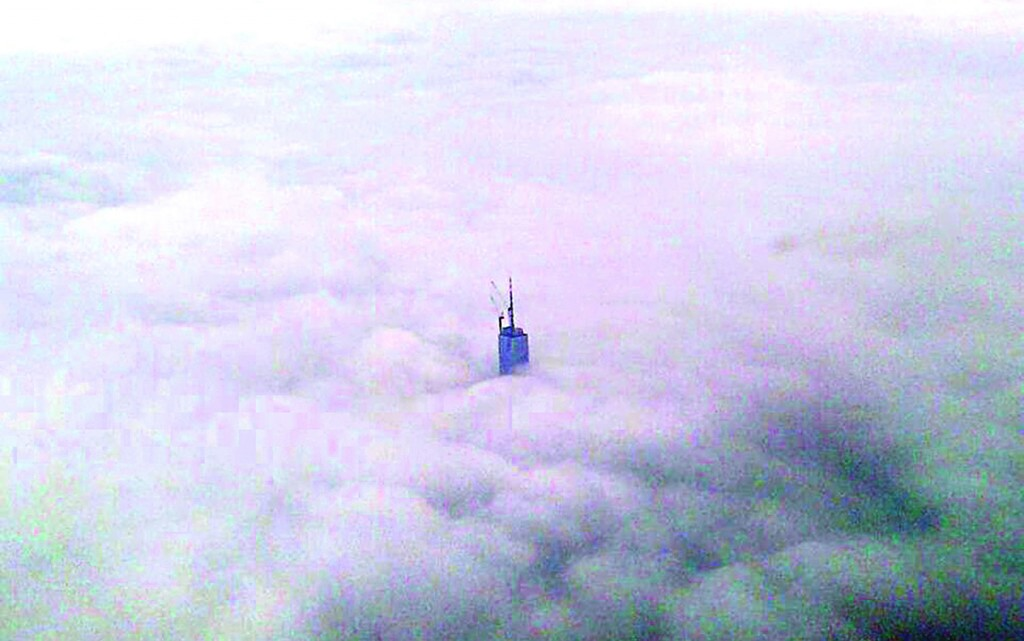 This incredible image of One World Trade Center sticking its neck above the clouds was captured by Delta Airlines Captain Jerry Walsh as he flew at an altitude of thousands of feet over Lower Manhattan Thursday. (The Port Authority of New York and New Jersey)