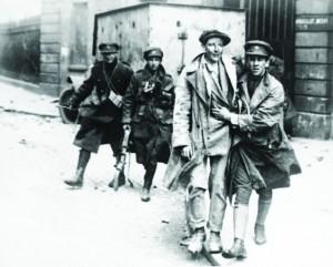 Rebel forces surrender, July 13, 1922, Dublin, Ireland. The Irish Civil War began in June 28, 1922. (AP Photo)