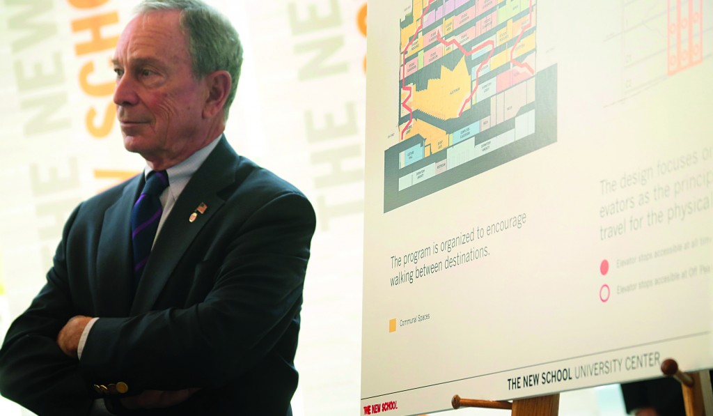 Mayor Bloomberg launches a new anti-obesity initiative to promote physical activity through changes to the design of buildings and public spaces Wednesday. (Edward Reed/Office of the Mayor)